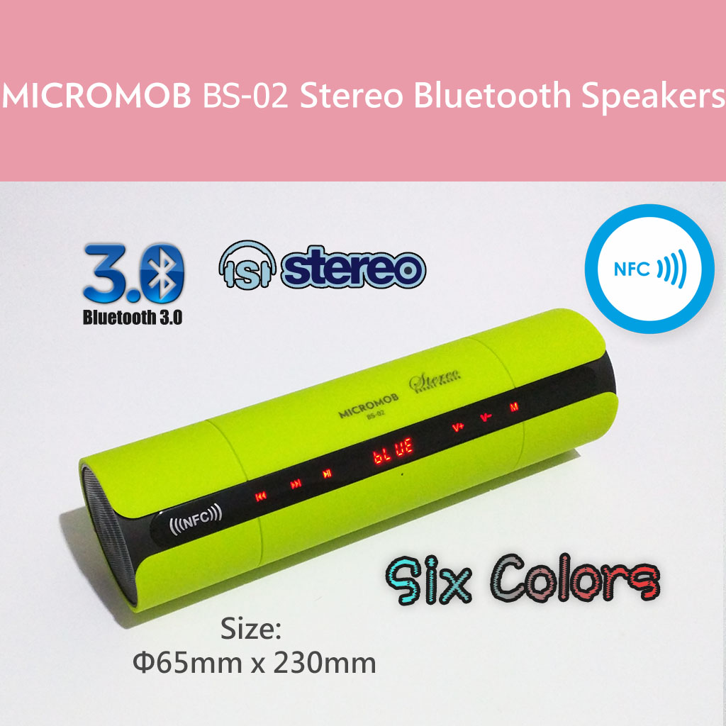 BS-02 Stereo Bluetooth Speakers